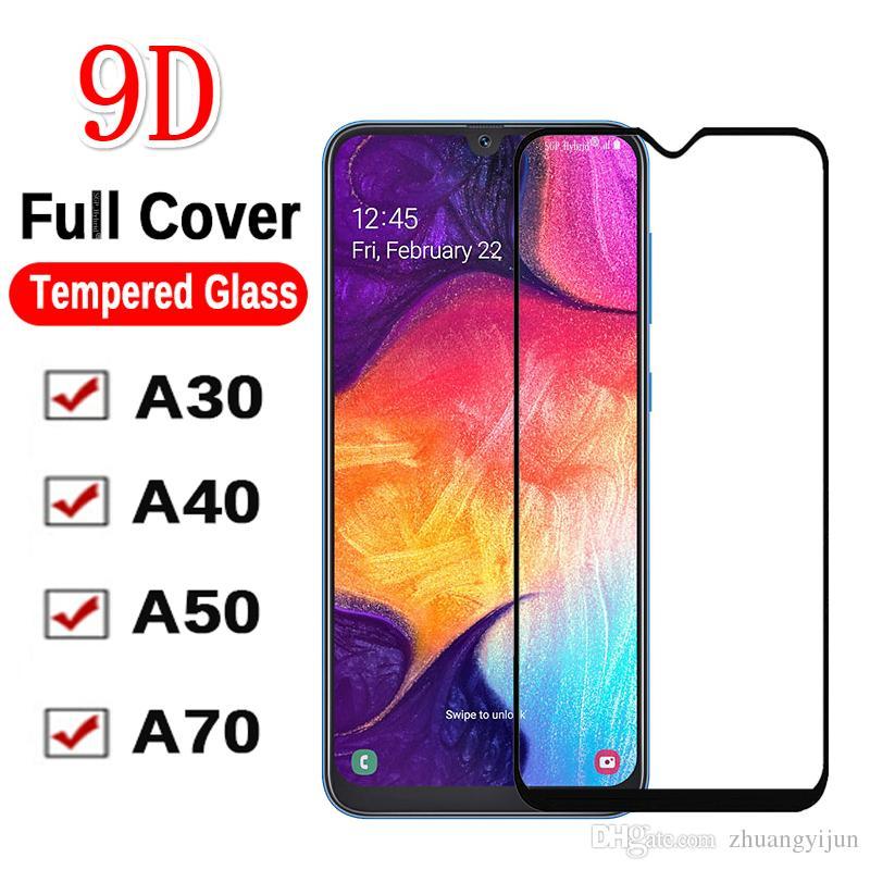 9D Защитные стекла для Sambsung Galaxi A10/20/30/40/50/60/70/80 Аляфобное покрытие