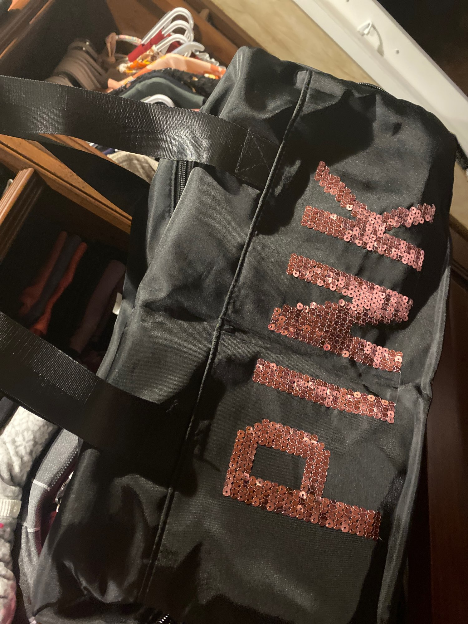 Sequined Pink Gym Bag photo review