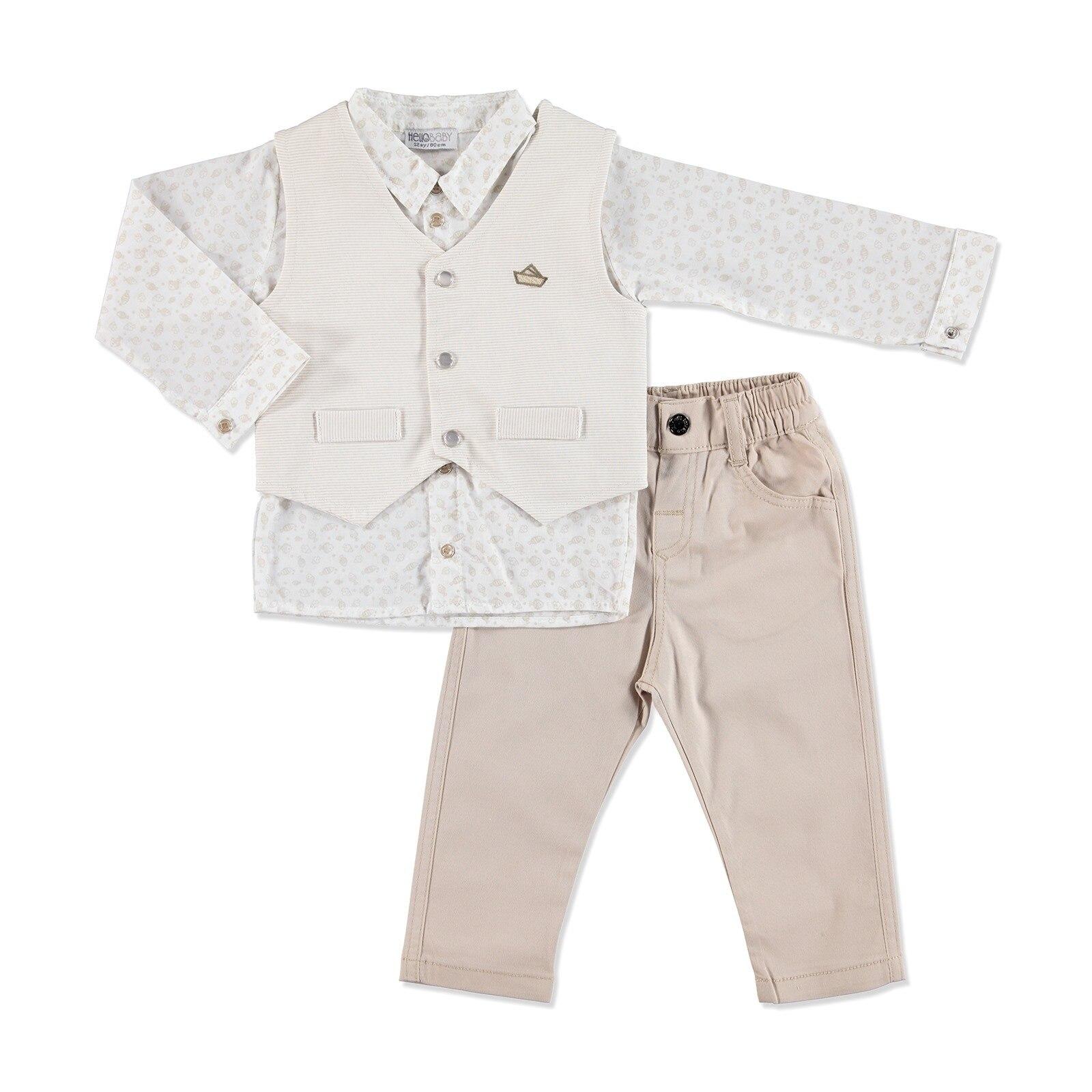 Ebebek HelloBaby Summer Baby The Best Sailor Shirt Pant Vest Set