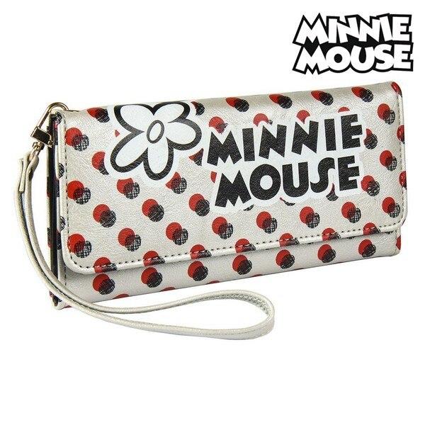 Purse Minnie Mouse Card Holder White Metallic 70687