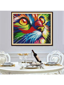 Cross-Stitch Handwork Canvas 11CT Printed Embroider Chinese 14CT The DIY Cat DMC 7-Colour