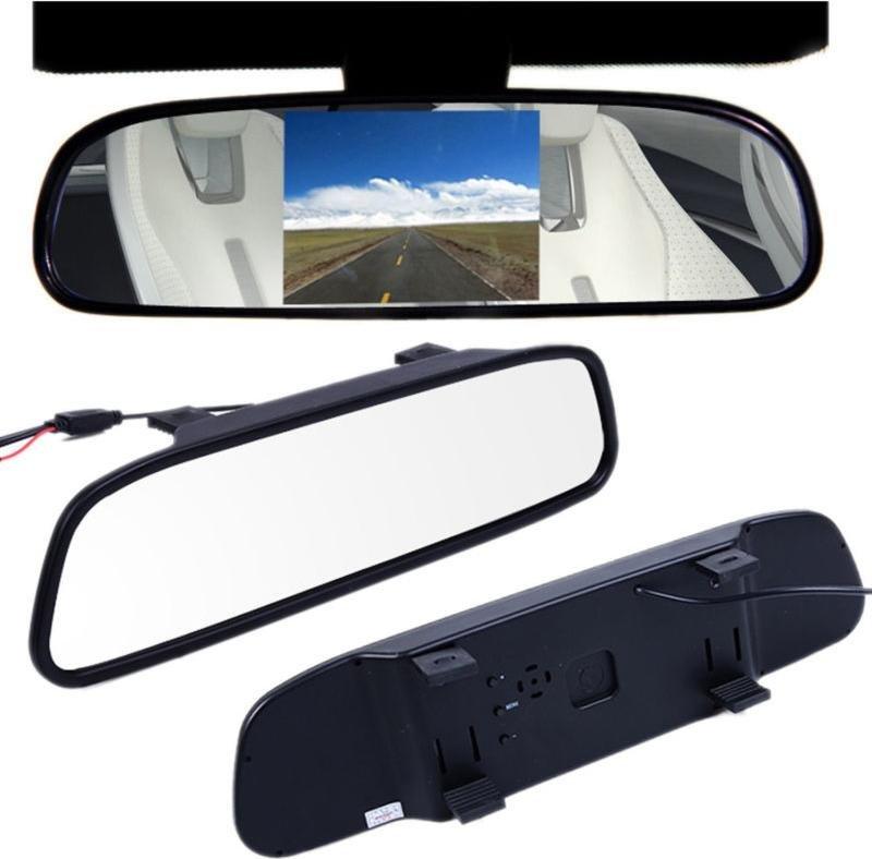 """Monitor de espejo para cámara de visión trasera с- 500 5 """"Pantalla de coche HD vista trasera de asistencia de estacionamiento de imagen inversa"""