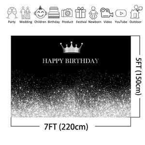 Image 3 - لافتة زخرفية لأعياد الميلاد بطابع فضي وأسود ، خلفية لامعة ، نقاط فضية ، خلفية صور ، مواد تزيين الحفلات