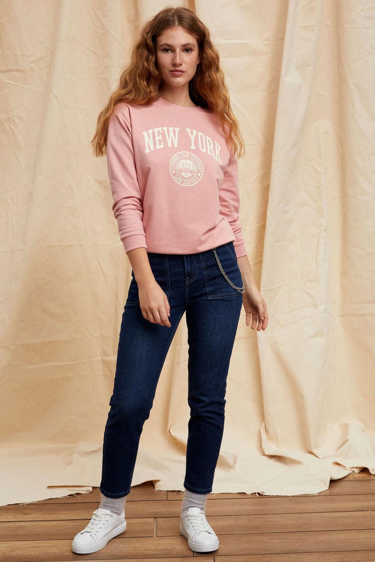 DeFacto Woman Skinny Denim Jeans Fashion Pockets Design Women Long Denim Pants Female Casual Skinny Trousers-M0573AZ19AU