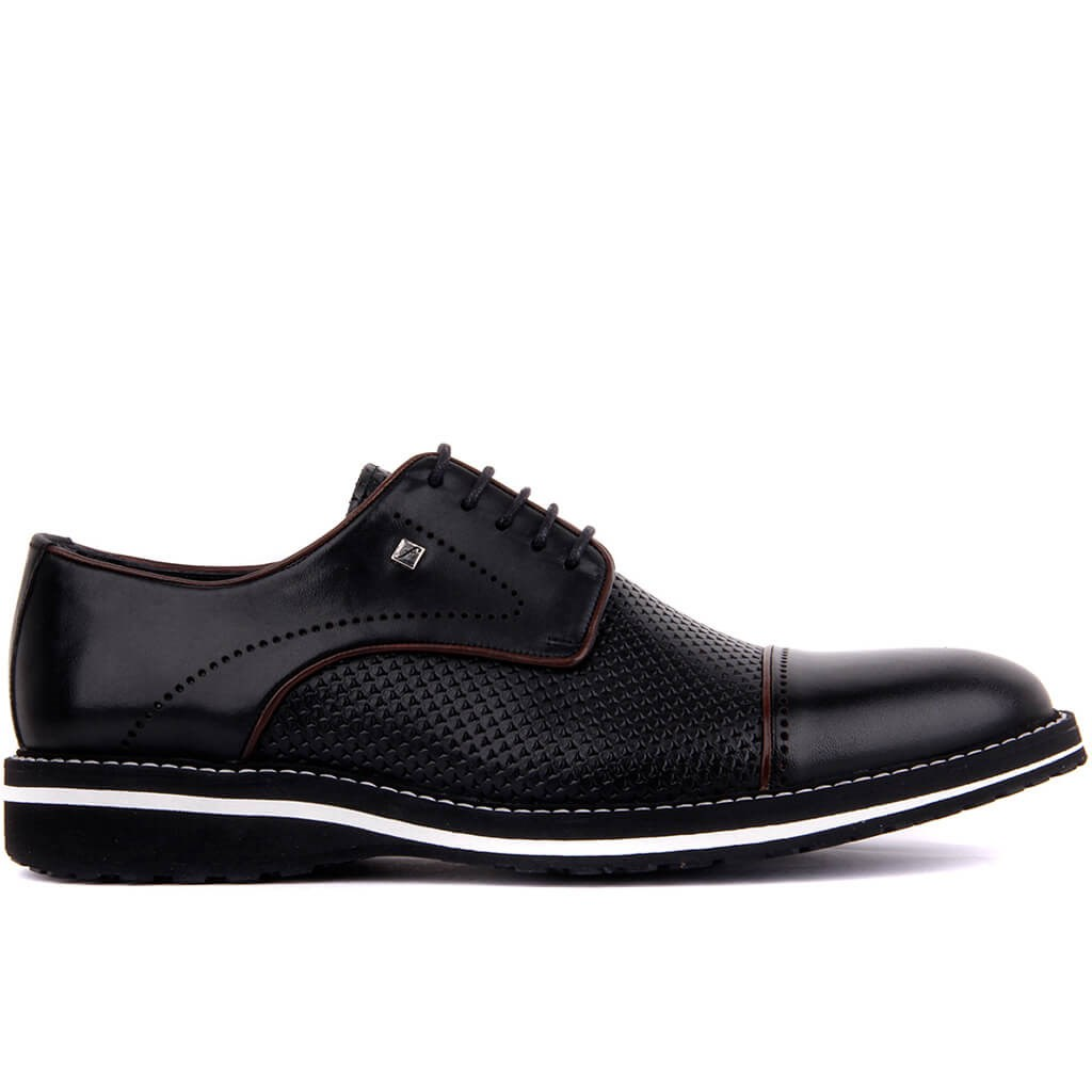Fosco-Black Leather Eva Men 'S Daily Casual Shoes