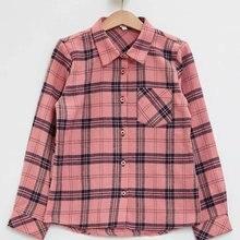 Дефакто, новая модная рубашка с длинными рукавами и лацканами для девочек повседневные свободные топы в клетку для девочек, удобные розовые рубашки для детей осень-M3403A619AU