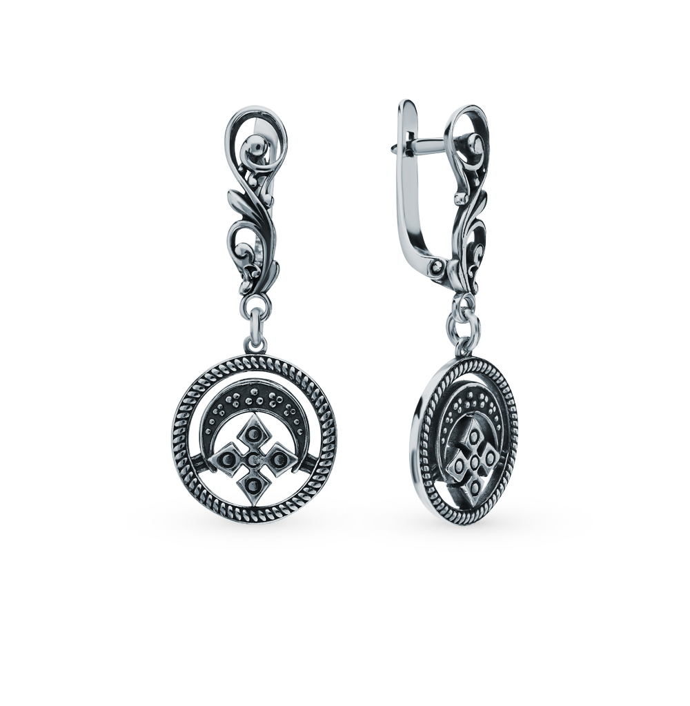 Silver Earrings-amulet