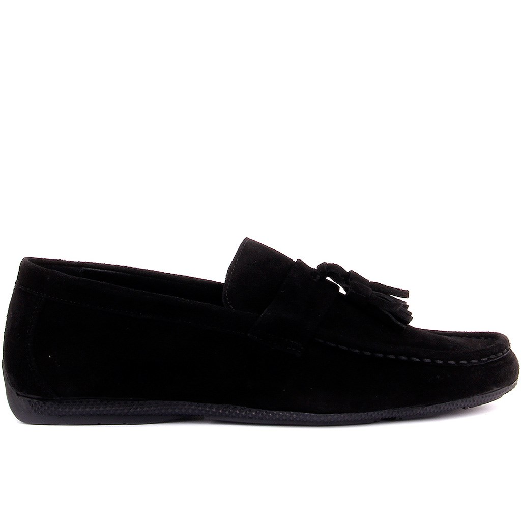 Sail-Lakers Black Suede Fringe Men 'S Daily Casual Shoes