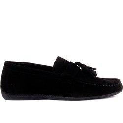Vela-Lakers Nero in Pelle Scamosciata con Frange scarpe casual Quotidiana Degli uomini casual Scarpe
