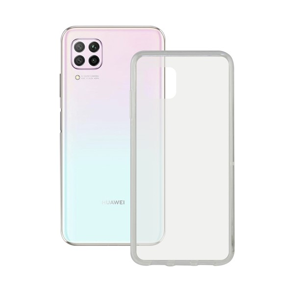 Mobile Phone Case With TPU Edge Huawei P40 Lite Contact Flex Transparent