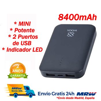 Power bank bateria externa movil Carga rápida Cargador móvil powerbank con cable...