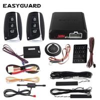 EASYGUARD passive keyless entry security car alarm remote start push button start touch password entry vibration alarm car