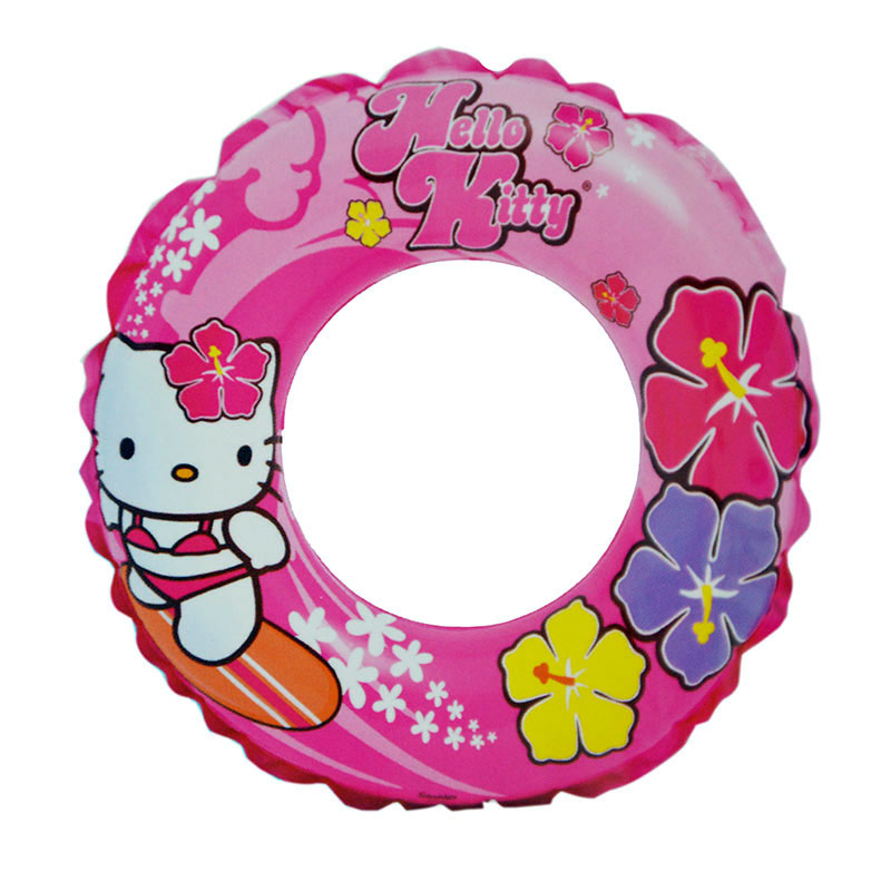 Inflatable Circle 61 Cm, From 6 To 12 Years, Intex Hello Kitty Item No. 56210
