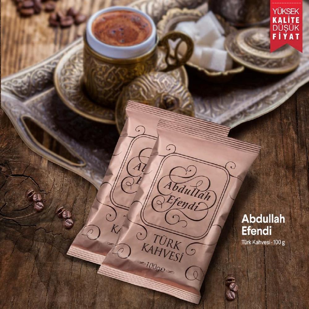 Turkish coffee By Kurukahveci Abdullah Efendi 100gr/3.5 oz Medium Roast Fine Ground Traditional Turkish Coffee Made in Turkey()