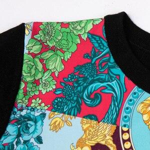 Image 5 - ถักผู้หญิงแฟชั่นผู้หญิงแขนยาว Elegant Floral พิมพ์เสื้อสบายๆสุภาพสตรีเสื้อขนสัตว์ด้านบนสไตล์หวานเสื้อกันหนาว