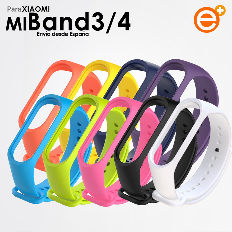 Flexible Silicone Strap For Xiaomi Mi Band 3 Mi Band 4 Soft Silicone Replacement Bracelet Waterproof