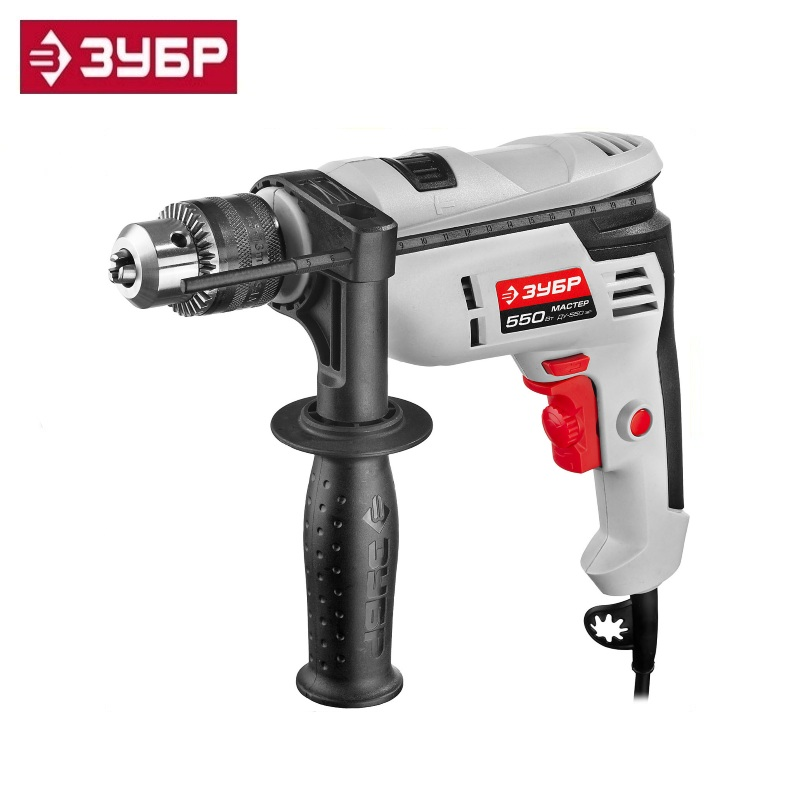 Impact drill, ZUBR DU-550 ER cartridge 13 mm, reverse Multi Purpose Corded Electric Power High drill impact zubr du 550 er