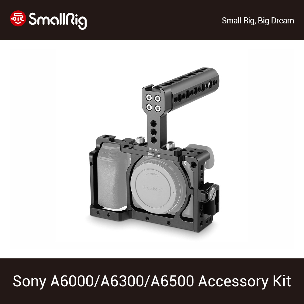 SmallRig Dslr Cage For <font><b>Sony</b></font> A6000/A6300/A6500 ILCE-6000/ILCE-6300/ILCE-<font><b>6500</b></font>/NEX7 <font><b>Camera</b></font> Cage With Top Handle Accessory Kit 1921 image