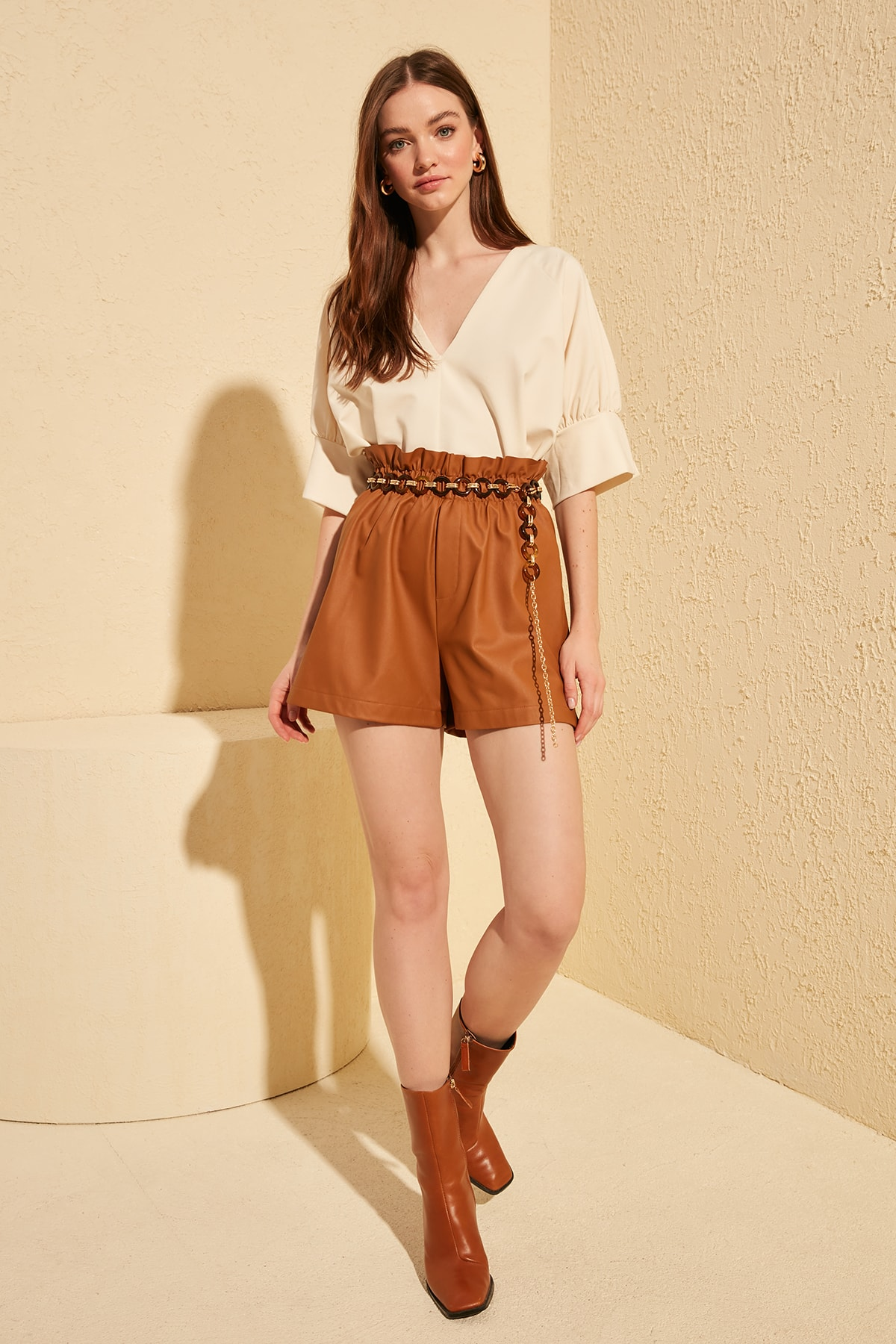 Trendyol Leather Looking Shorts & Bermuda TWOSS20SR0010