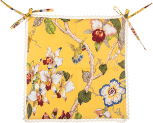 Sidushka on a chair 40*40 cm, Paradise, cotton 100%, yellow