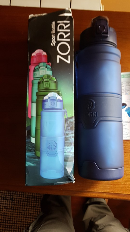 ZORRI New Shaker Sports Water Bottle Gourde Water+Bottles Fashion Bpa Free Portable Tourism And Camping Drink Bottle 1000 ml-in Water Bottles from Home & Garden on AliExpress