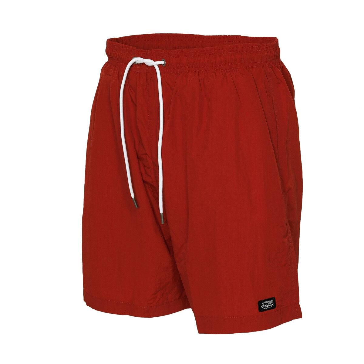 FLO M-1659 BUSY SEA SORTU Red Male Sea Shorts LUMBERJACK