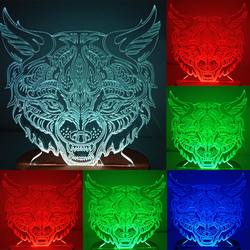 N-048 Lynx-3D USB led Eco-friendly lamp night light, hand, table night light, home decor,