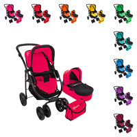 Doll Stroller Toys for Children Doll Furniture Doll House Educational toy 2 in 1 BUGGY BOOM Amidea Collection.