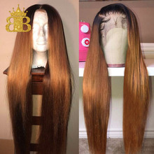 13 #215 4 Straight Honey Blond Ombre Color Highlight 150 Lace Front Human Hair Wigs for Women Remy Brazilian Invisible Pre Plucked cheap Lace Front wigs Remy Hair Long NONE Swiss Lace 1 Piece Only Half Machine Made Half Hand Tied Medium Brown Brazilian Hair