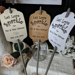 Personalised Sparkler Tags , Let Love Sparkle ,Sparkler Wedding Favours,Wedding favors kraft favor tags,Luggage tags(China)