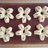 芝士香肠花朵面包的做法图解13