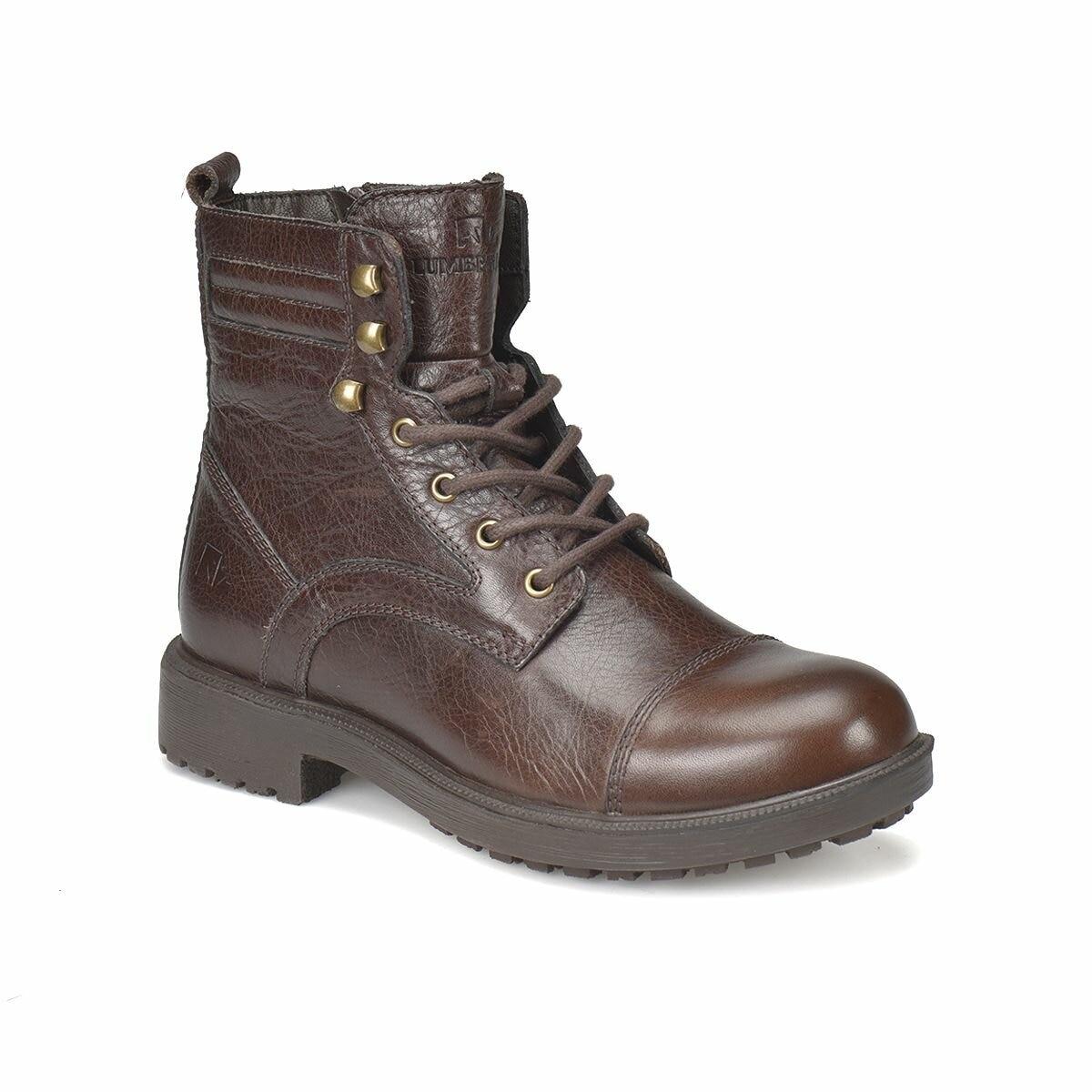 FLO ULPIA Dark Coffee Men Boots LUMBERJACK