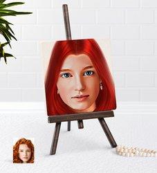 Personalized Women 'S Artistic Illustration Portrait Design Şovaleli Natural Taş-3