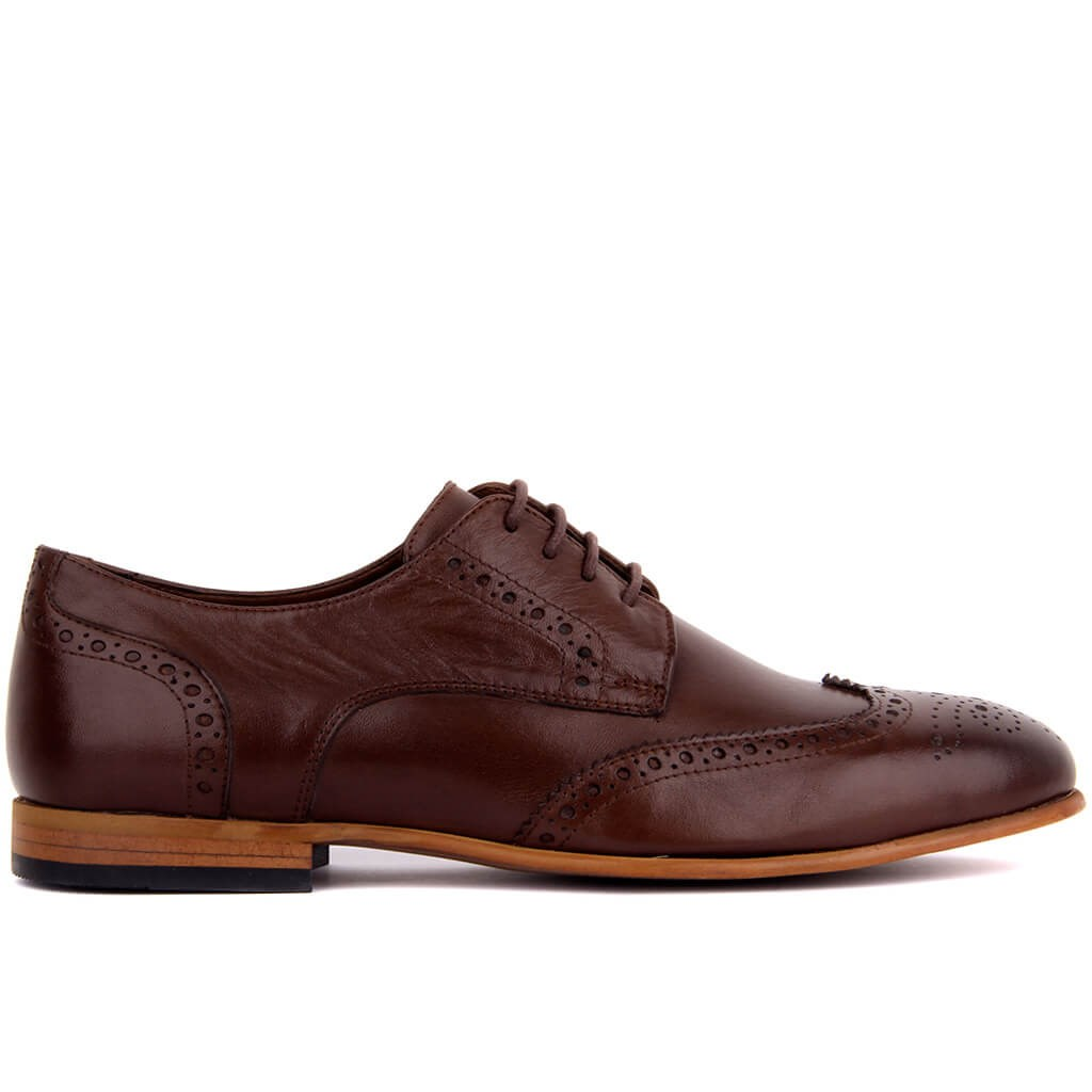 Sail Lakers-Brown Leather Men's Casual Shoes