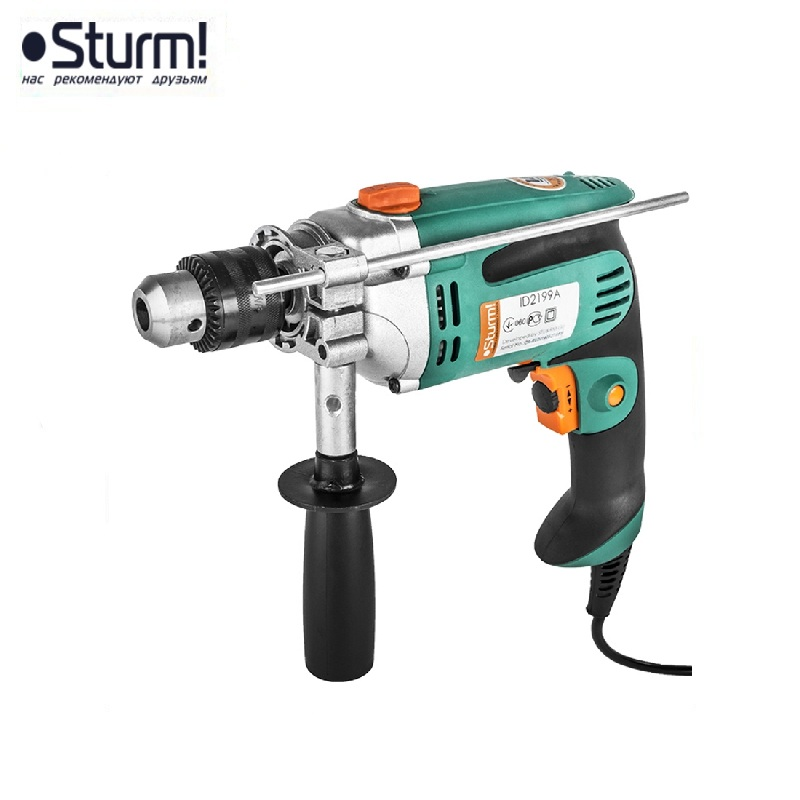 ID2199A hammer drill Sturm, 980 W, 0-2800 rpm, 0-42000 beats / min Percussion drill Boring Hammer drilling in concrete id2195p hammer drill pros sturm 1000 w 0 2700 rpm 0 45900 bpm percussion drill boring hammer drilling in concrete