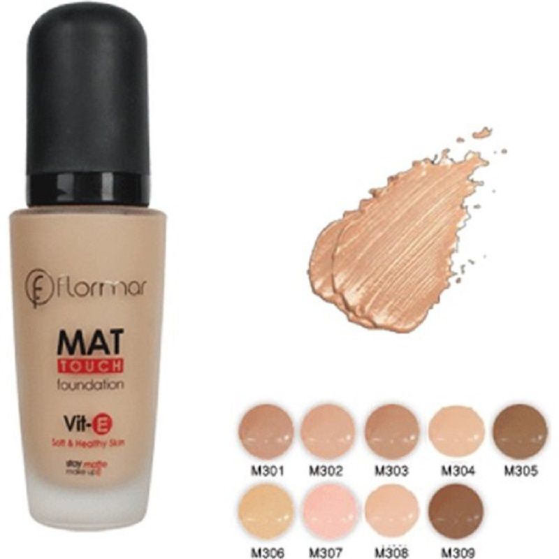 Flormar Mat Touch Foundation Matte Liquid Color Options Face Foundation Skin Make up image
