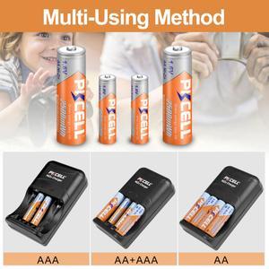 Image 5 - 4 adet PKCELL NIZN şarj edilebilir piller 900mwh 1.6v ni zn pil ve nizn pil şarj cihazı 2 ila 4 adet AA veya AAA pil