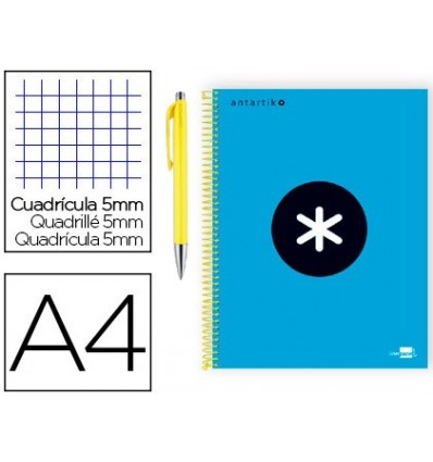SPIRAL NOTEBOOK LEADERPAPER A4 MICRO ANTARTIK LINED TOP 120 H 100G BOX 5 MM BLUE COLOR PROMO CARAN D ACHE