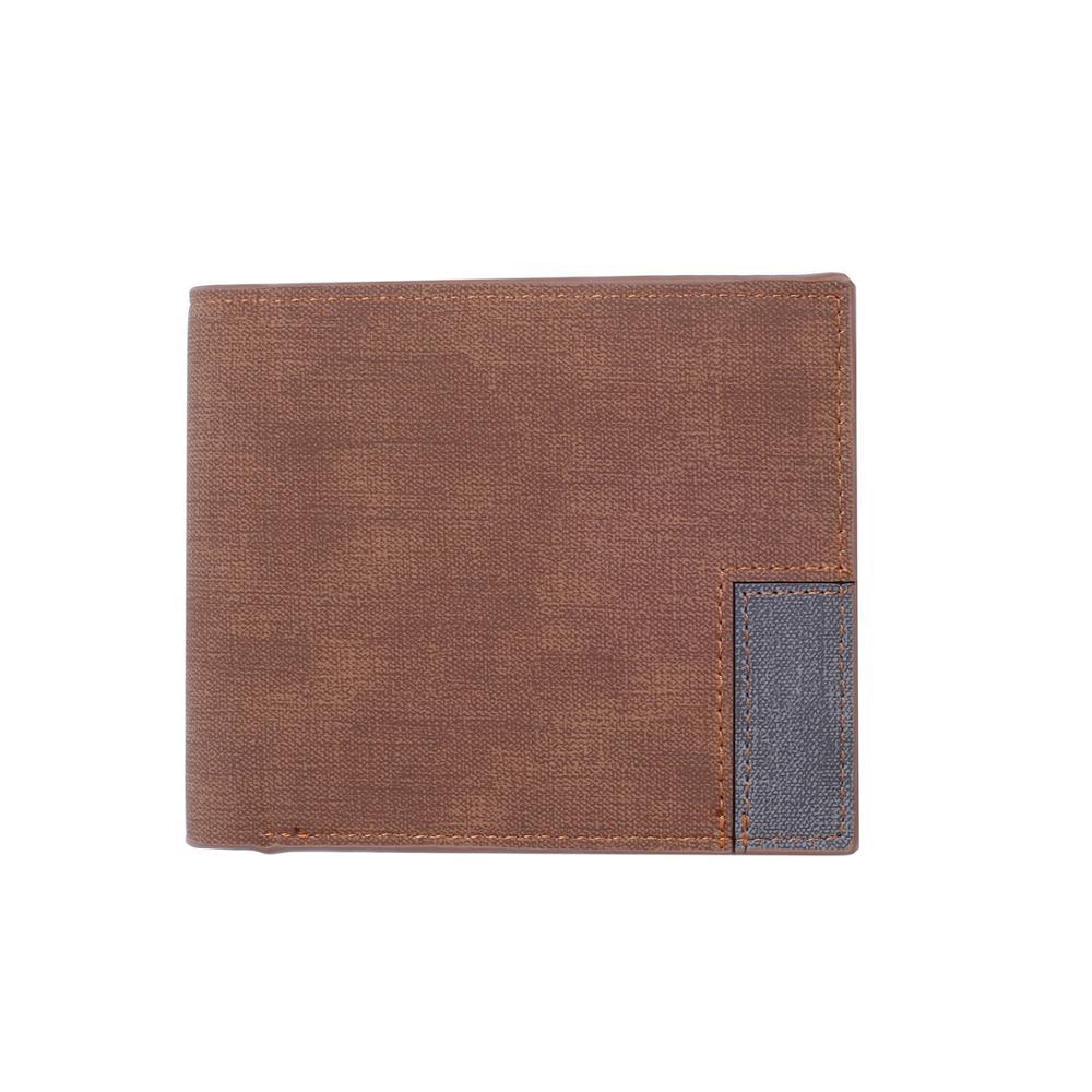 2019 Black Purse Men Wallet Wallets RFID Blocking Double-fold Wallet Short Ultra-thin Credit Card Holder Wallets Men