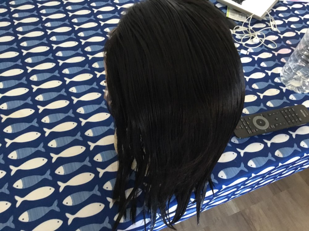 Apliques com cabelo humano Peruca Cabelo Humano