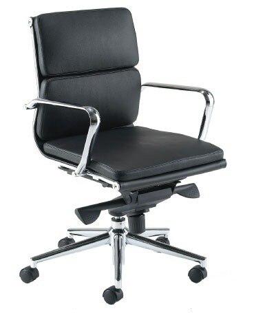 Office Armchair MISSOURI (S), Rotatable, Similpiel Black