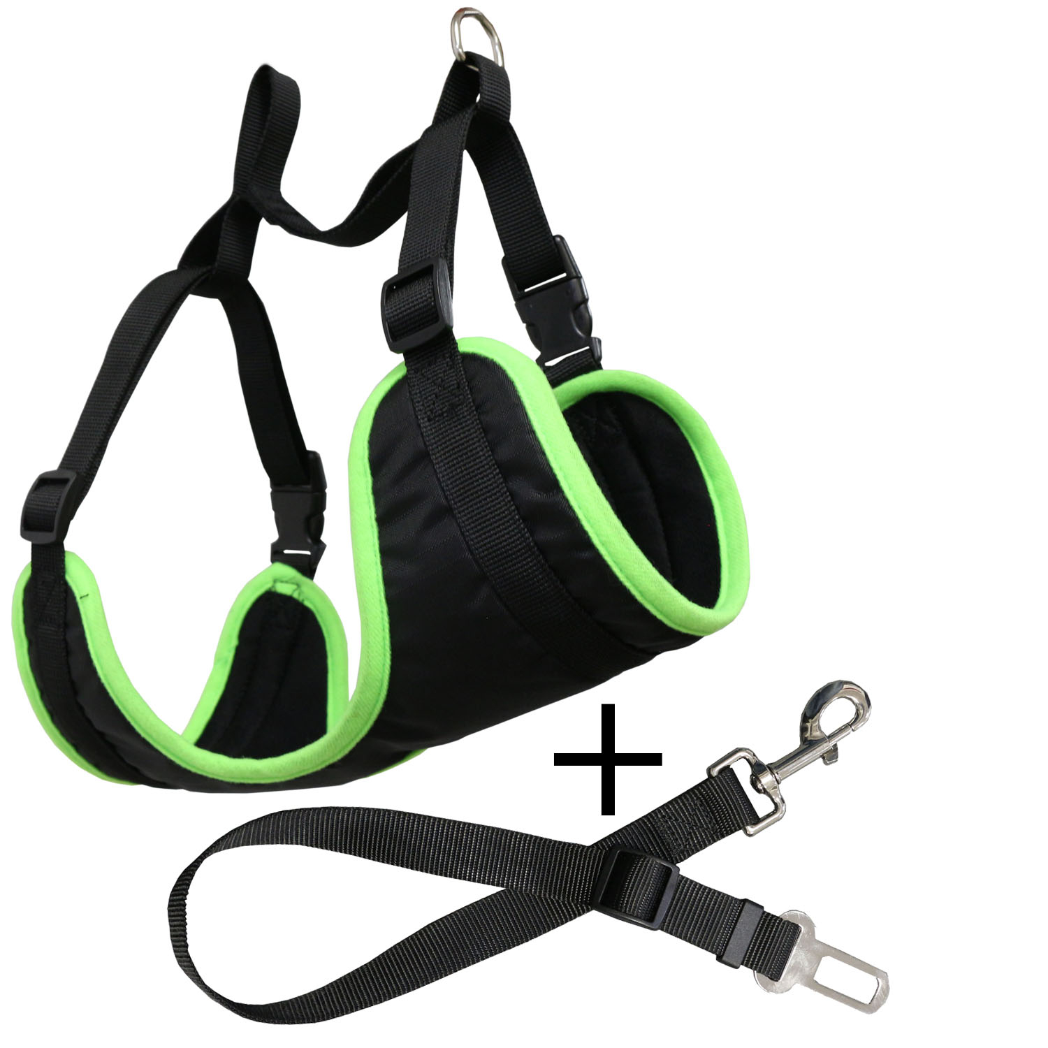 Harness With Car Belt For Dogs Adjustable Yatek, Suitable For Most Vehicles, Durable Material, Such