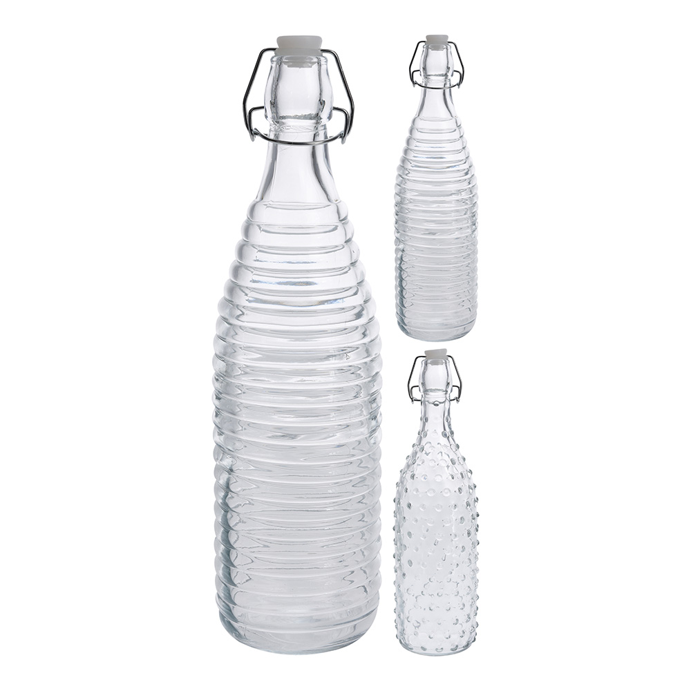 1L GLASS bottle WITH CAP