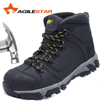 Safety Shoes For Men Steel Toe Work Boots Heat Resistant 300℃ S3 SRC EN20345:2011 Anti Smashing Puncture Proof Anti-Static