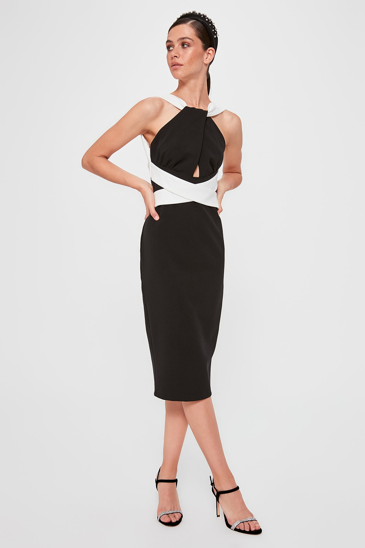 Trendyol Blocky Waist Detail Dress TPRAW20EL1394