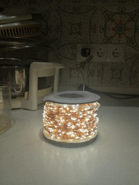 Fios de LED Brancas Quente Estrelado