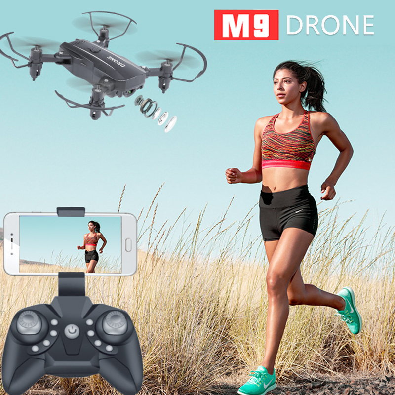 M9 Mini Foldable WiFi RC Drone 1080P HD Camera Aerial Video RC Quadcopter Aircraft Quadrocopter Toys for children