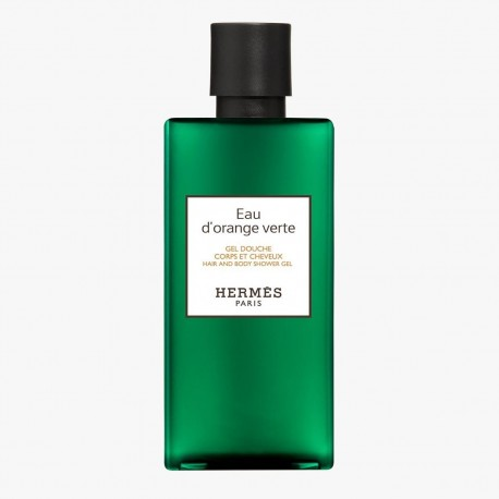HERMES EAU VERTE ORANGE HAIR AND SHOWER GEL 200ML