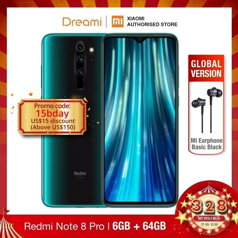 Global Version Xiaomi Redmi Note 8 PRO 64GB ROM 6GB RAM (LATEST ARRIVAL!!), Note8 Pro