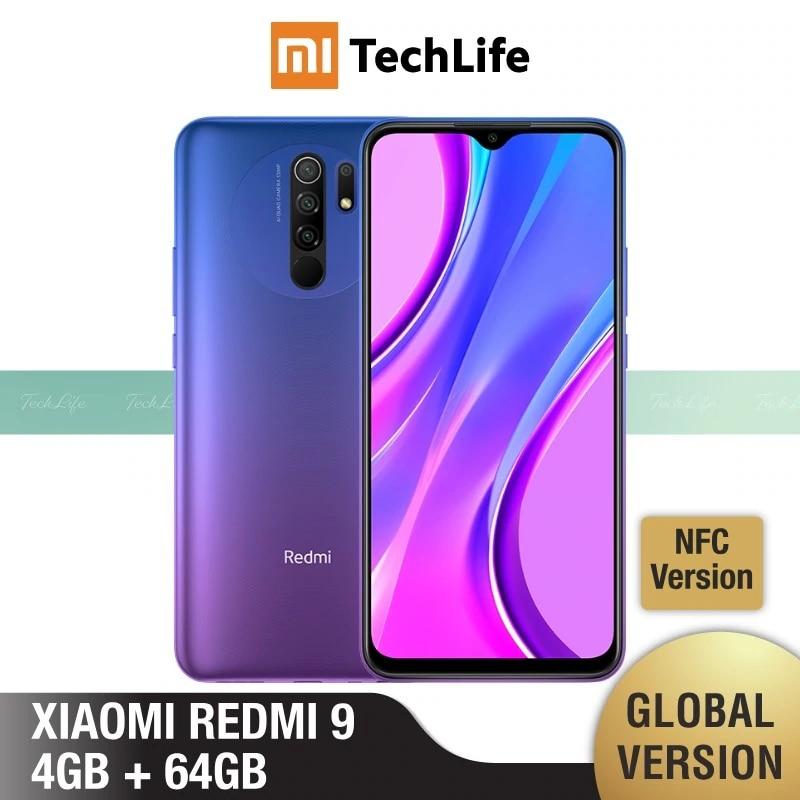 Xiaomi Redmi 9 64GB-ROM 4gbb Adaptive Fast Charge Fingerprint Recognition 2mp/13mp/8mp/5mp